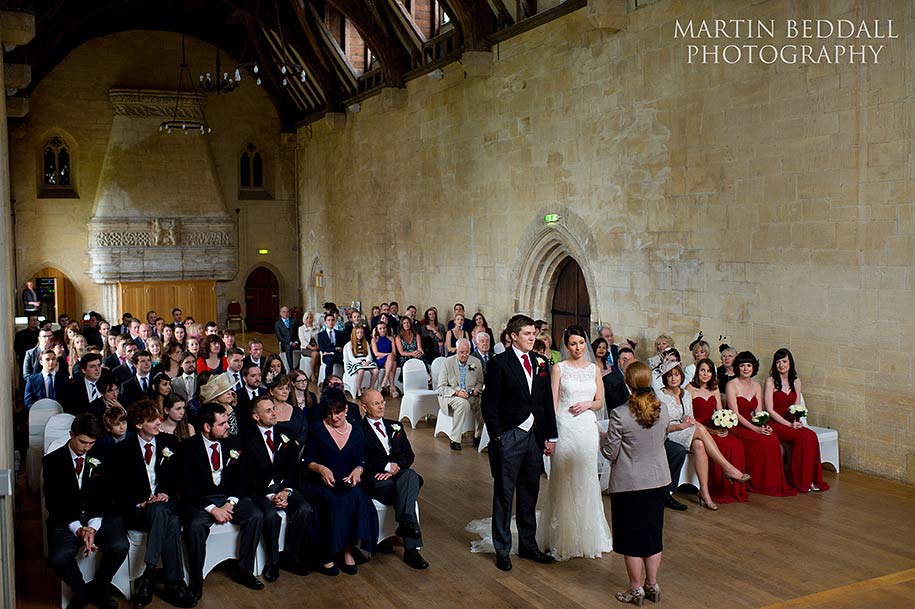 Wedding ceremony at St Donat's castle