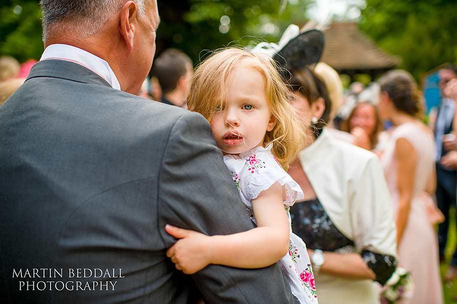The bride's niece
