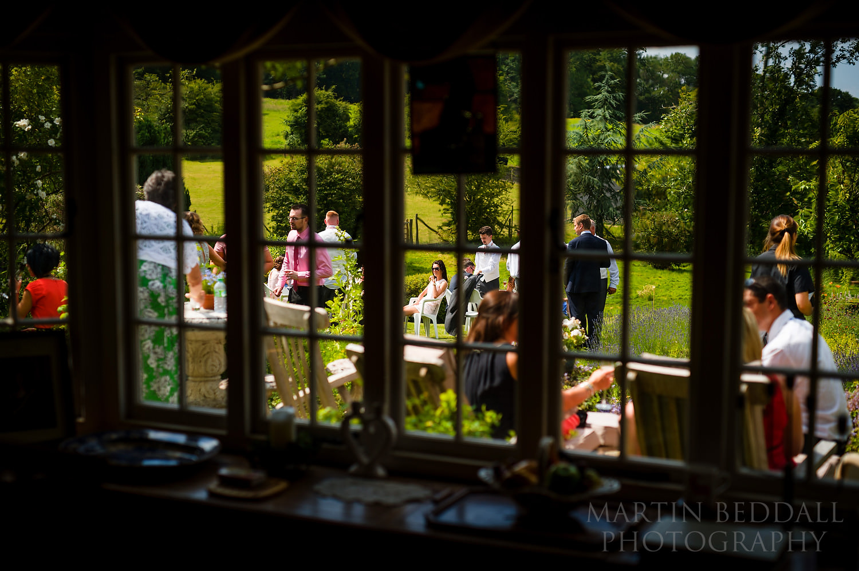 Surrey garden wedding in the house