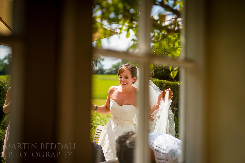 Bride at Surrey garden wedding