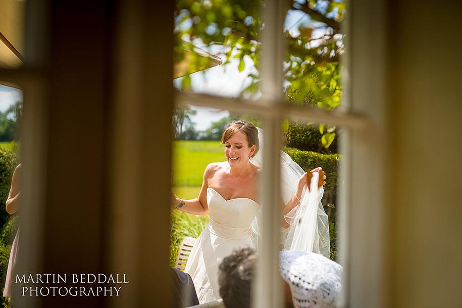 Bride at a Surrey garden wedding