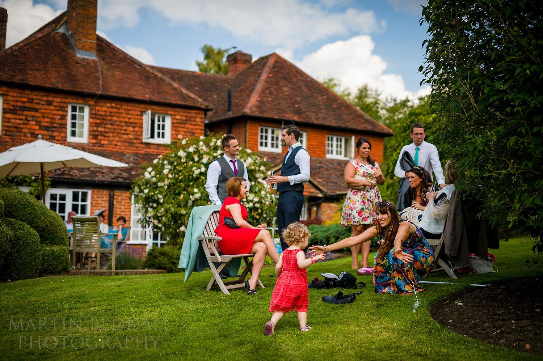 Surrey garden wedding  photography