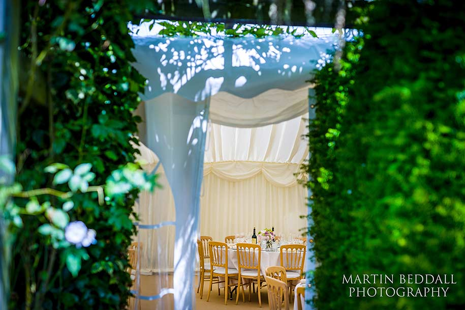 Marquee for an English country wedding