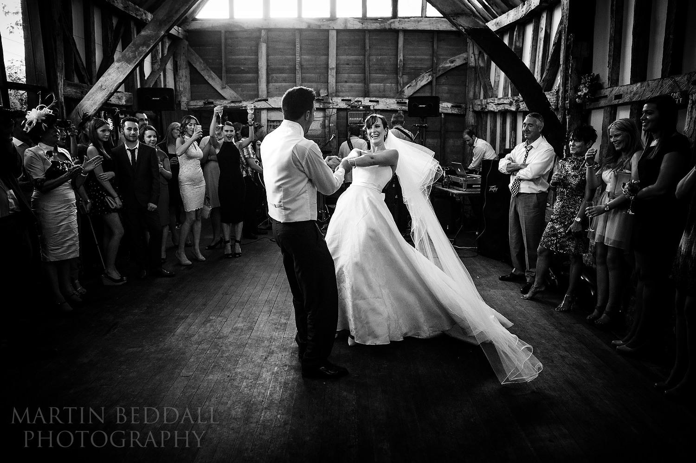 First dance at Surrey garden wedding