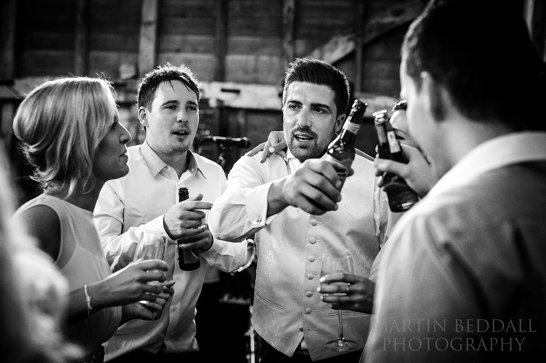 Beers on the dance floor