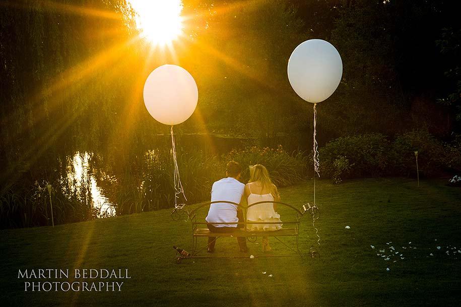 Summer's evening at a wedding