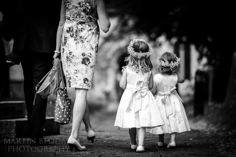 Flower girls at Berkshire wedding