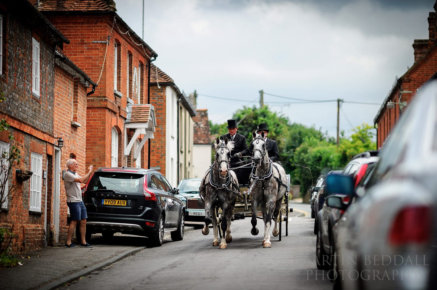 Berkshire wedding horse and carriage