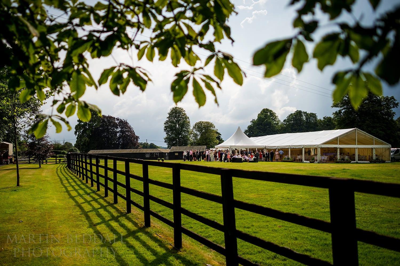 Wedding reception on a stud farm