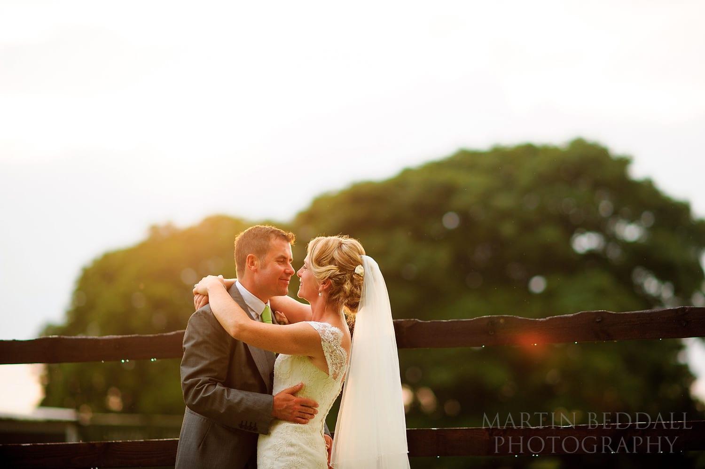 Evening couple portrait at Berkshire wedding