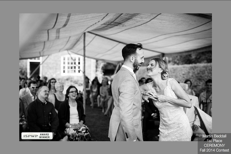 Award for wedding photograph captured at Dewsall Court