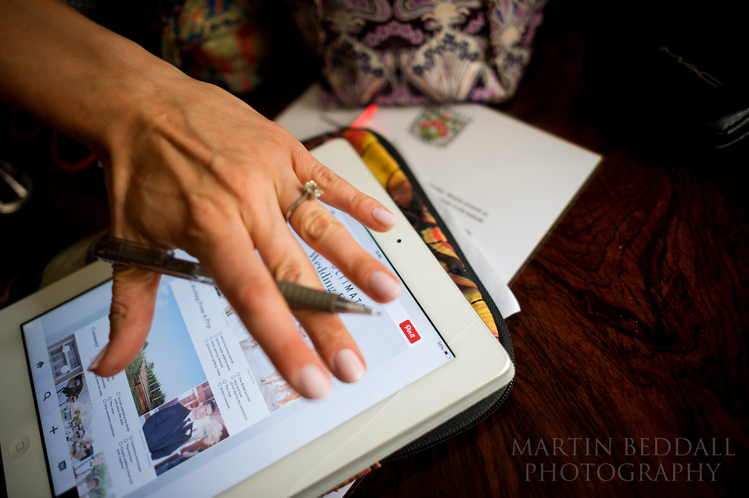 Bride tries to cover up her wedding photography checklist
