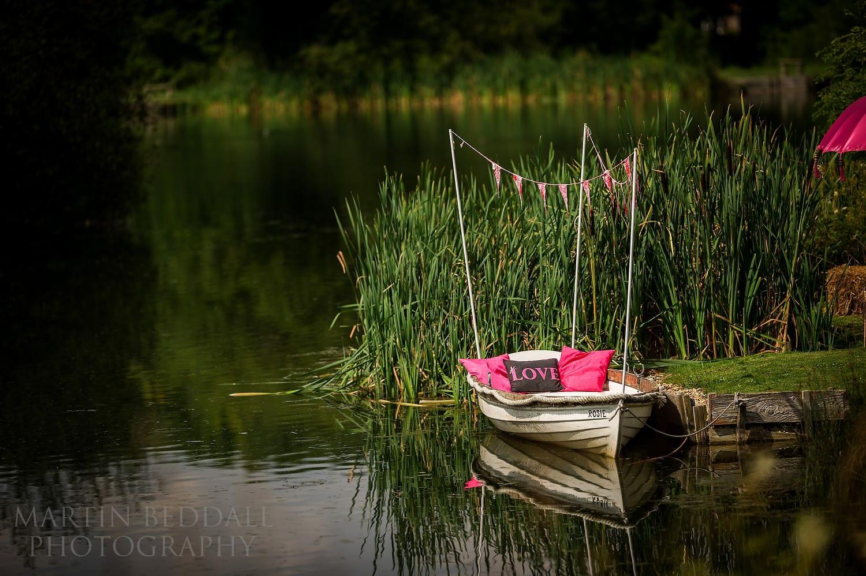 Duncton Mill wedding boat
