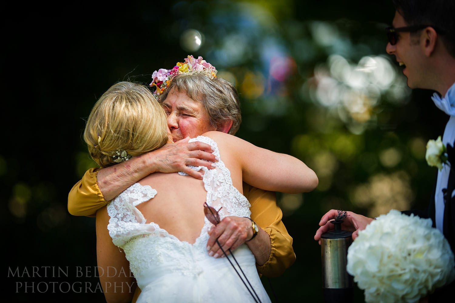 Hug for the bride