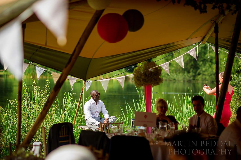 Duncton Mill wedding guest