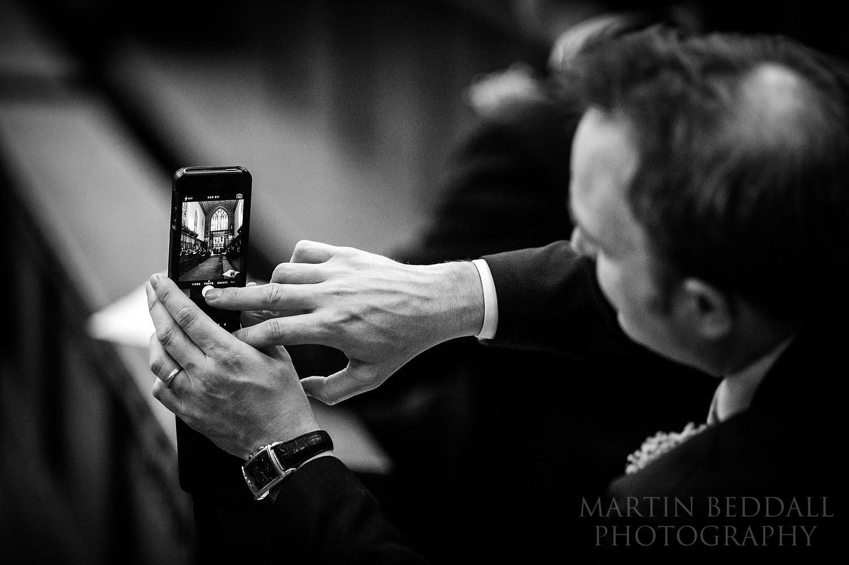 Capturing the ceremony