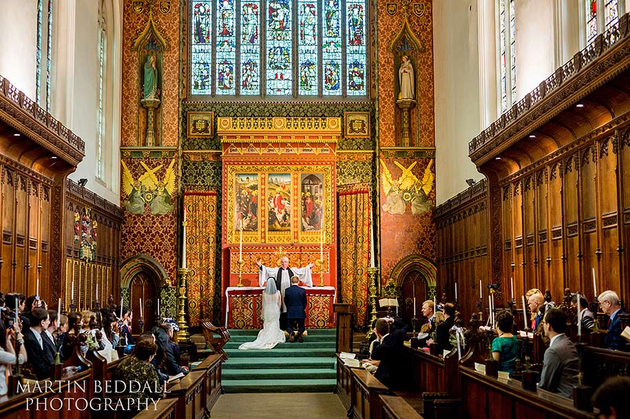 Queens' College wedding blessing