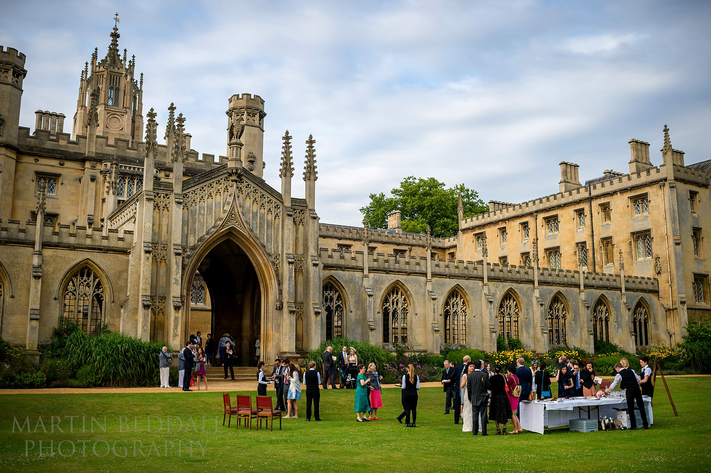 Wedding reception at St John's College in Cambridge