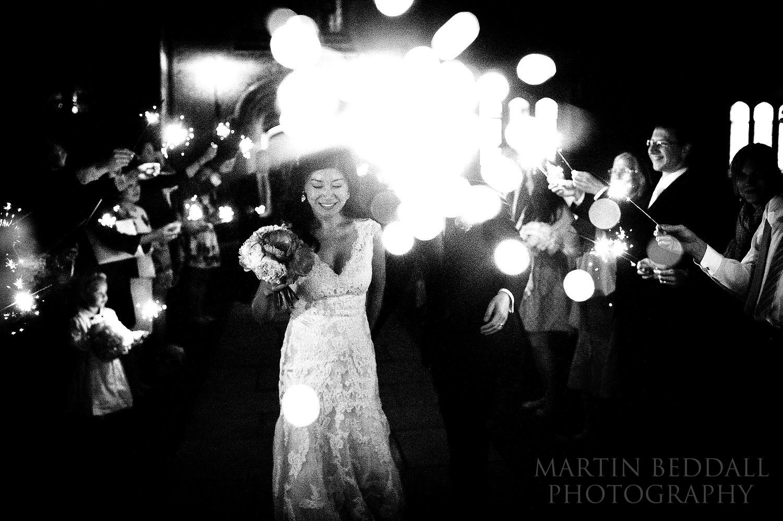 St John's College wedding sparklers