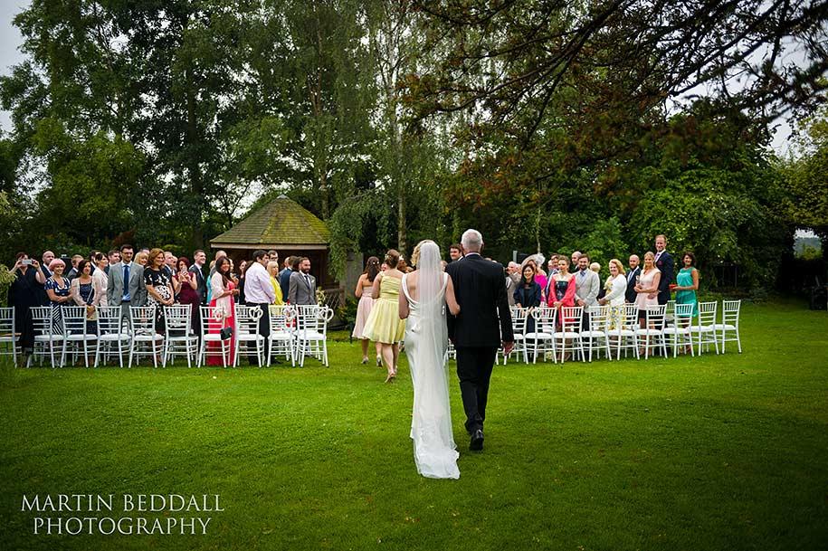South farm wedding ceremony