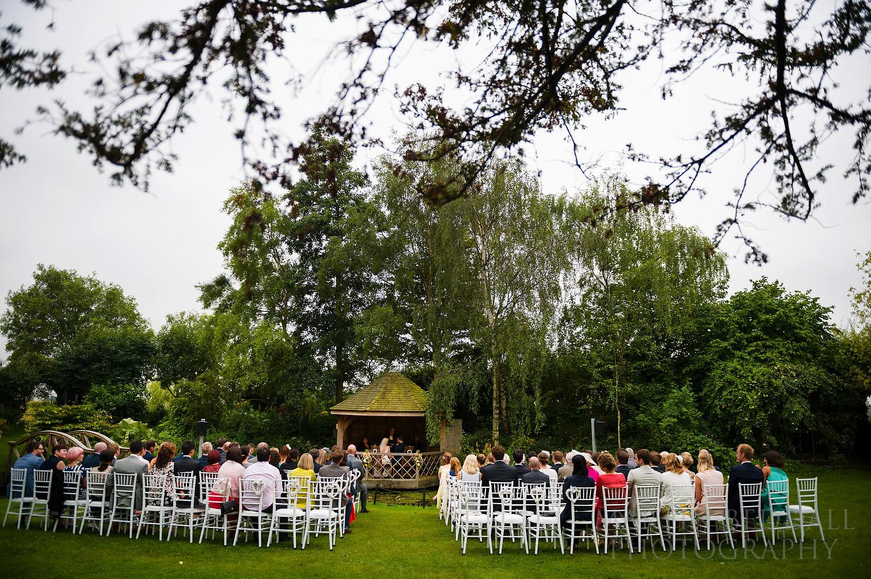 South Farm open-air wedding ceremony