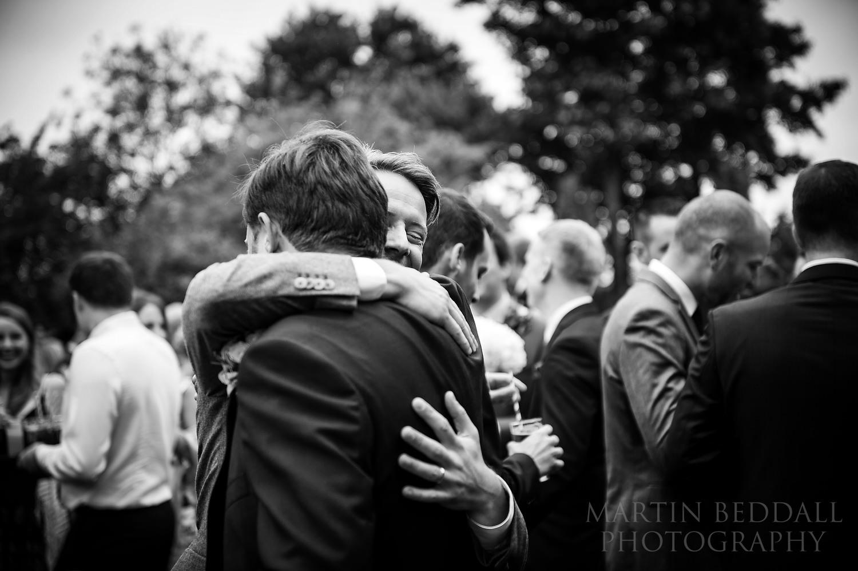 Hug for the groom