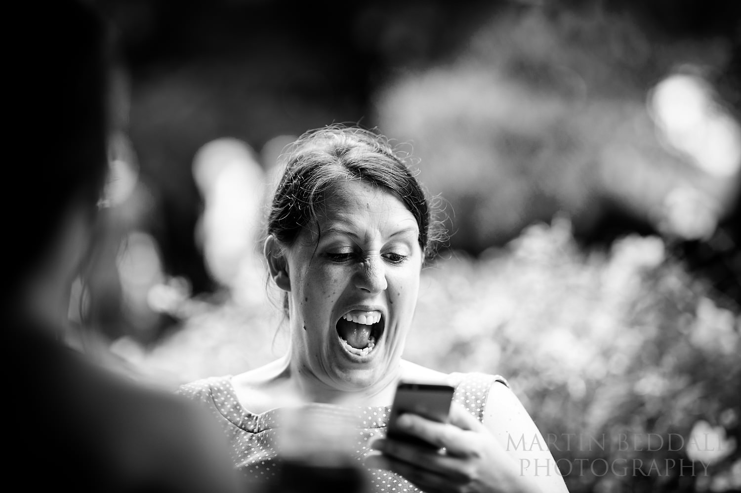 reaction to phone