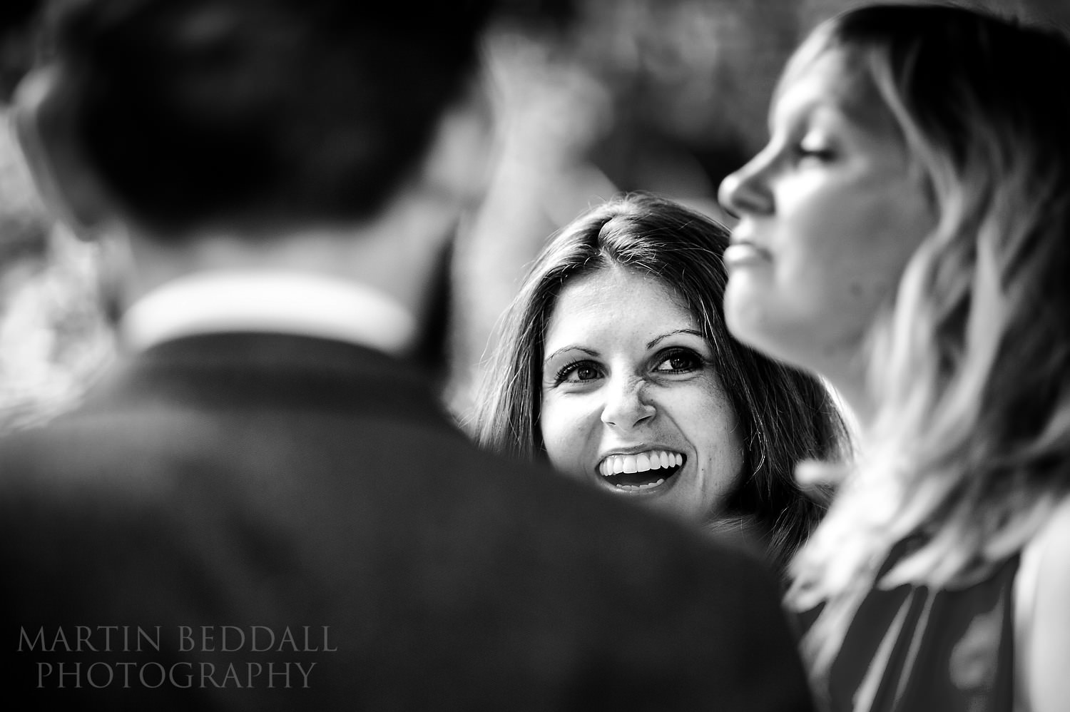 Wedding guest laughter