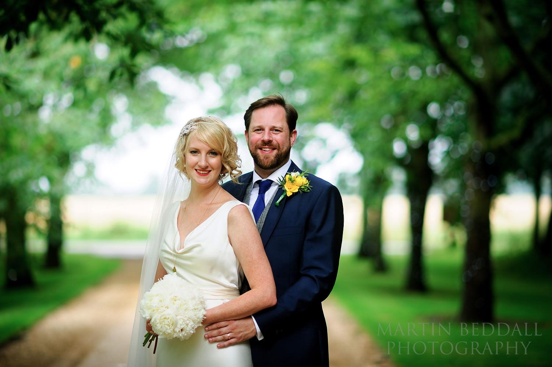 Couple portrait at South Farm wedding