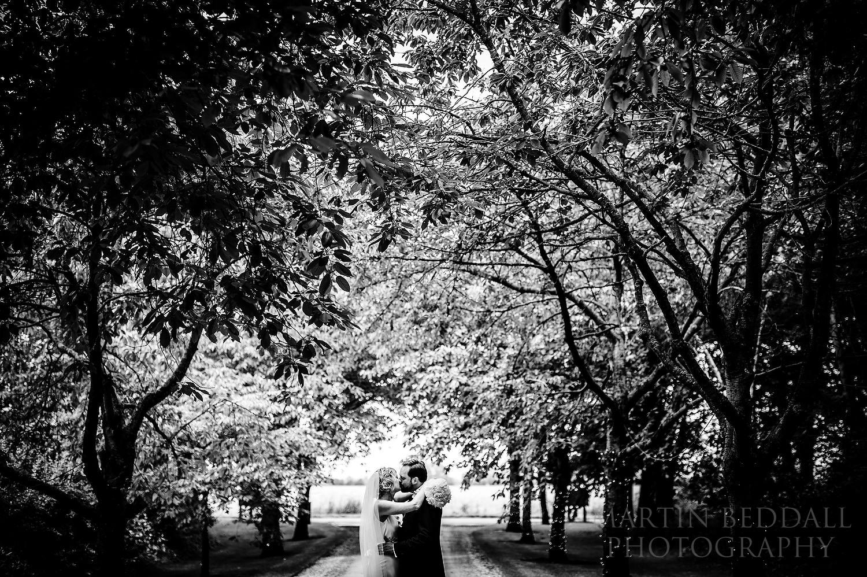 South Farm wedding couple kiss