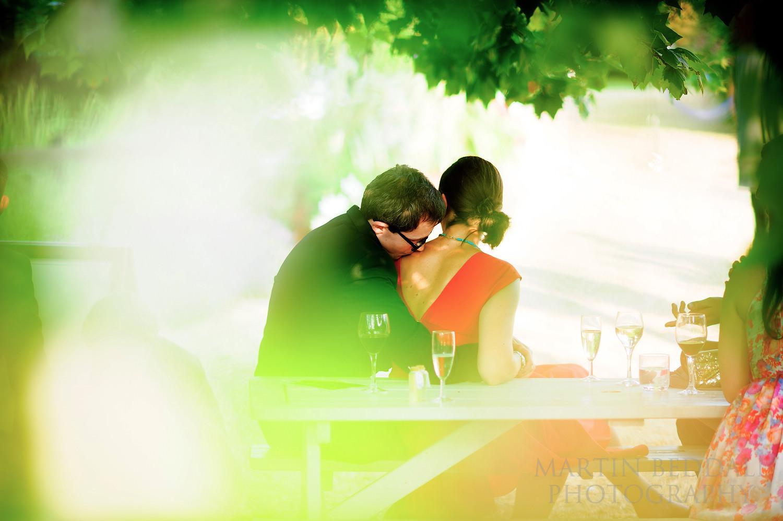 Romantic wedding guests