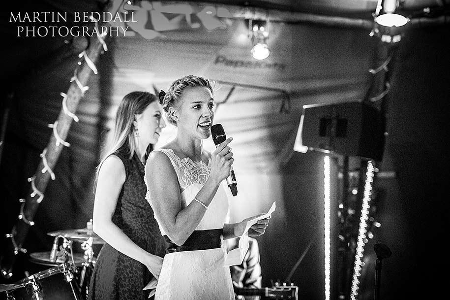 Bride sings to the groom