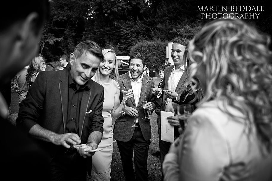 French magician at a wedding