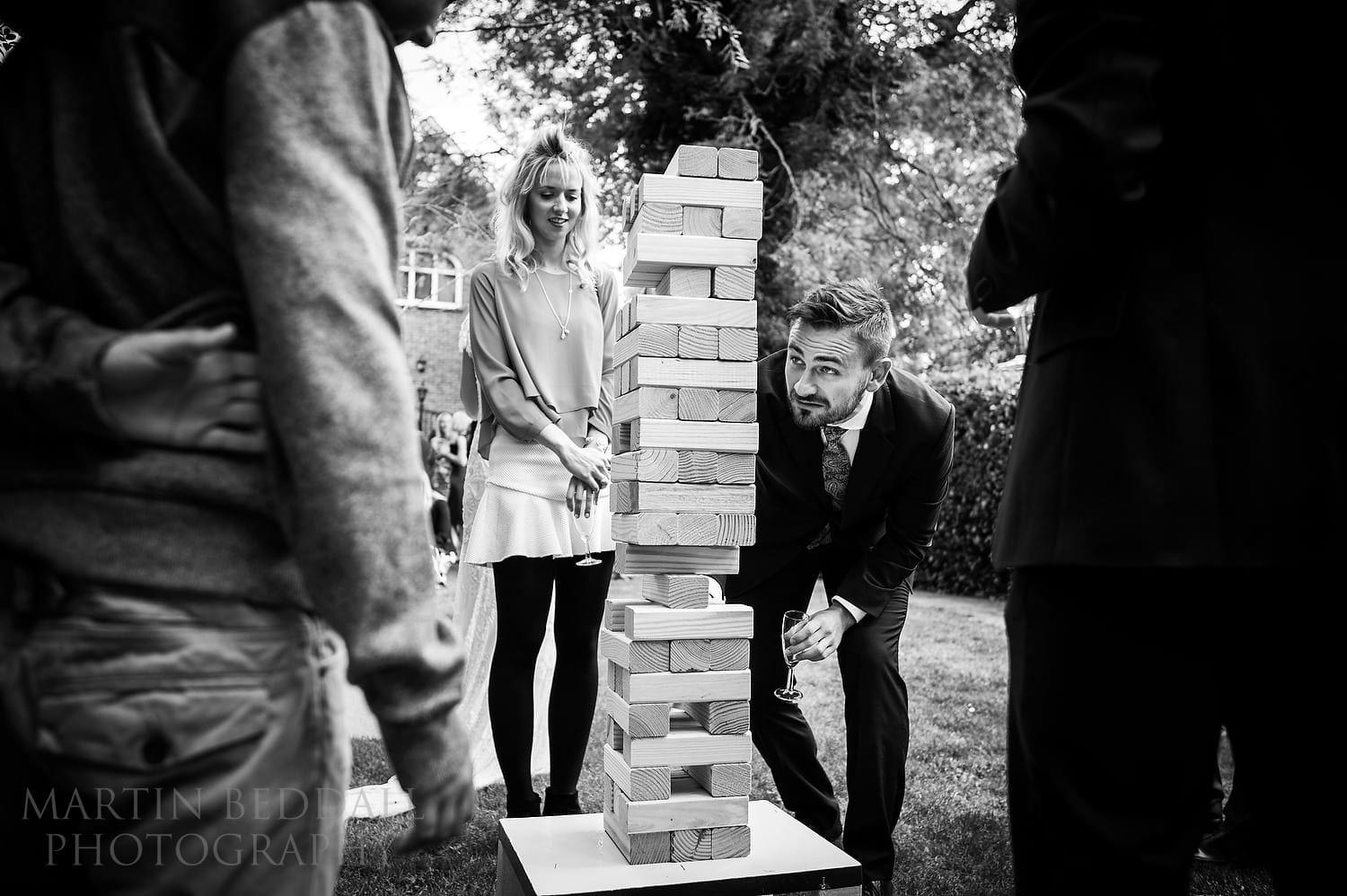 Wedding Jenga at Queen's Hall wedding
