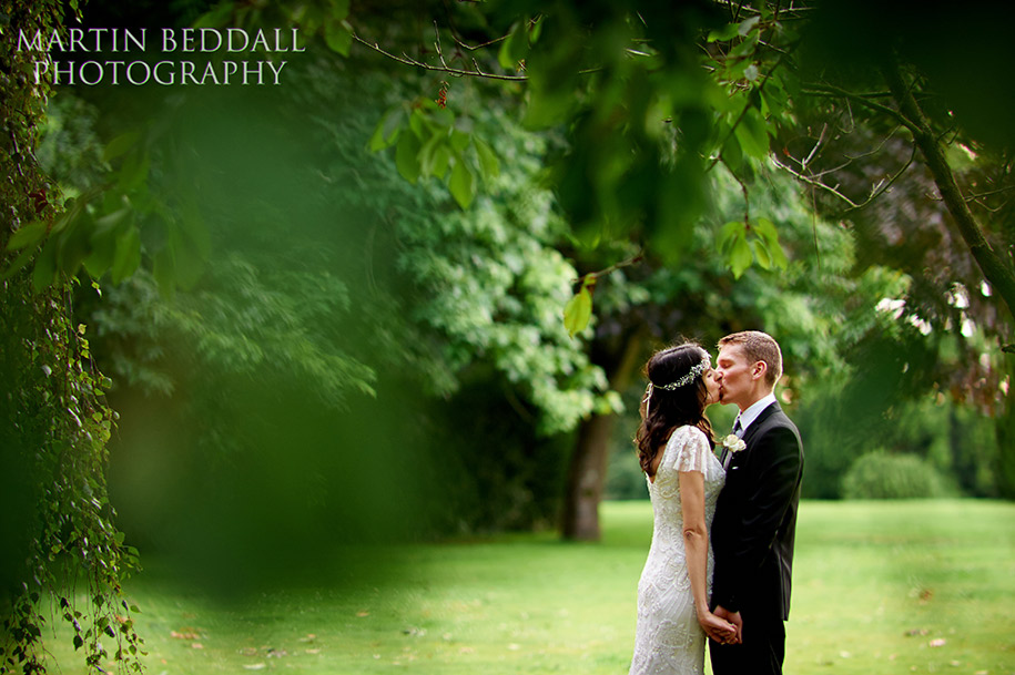 Bride and groom portrait at Queen's Hall in Cuckfield West Sussex