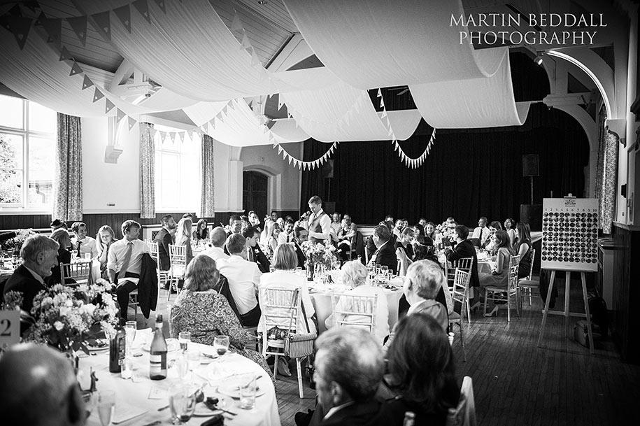 Queen's Hall wedding reception