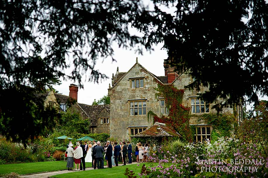 Wedding guests at Garvetye Manor wedding