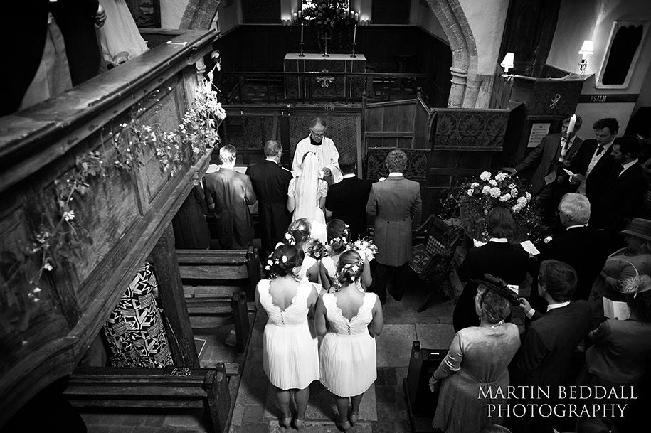 Wedding at All saints in Minstead