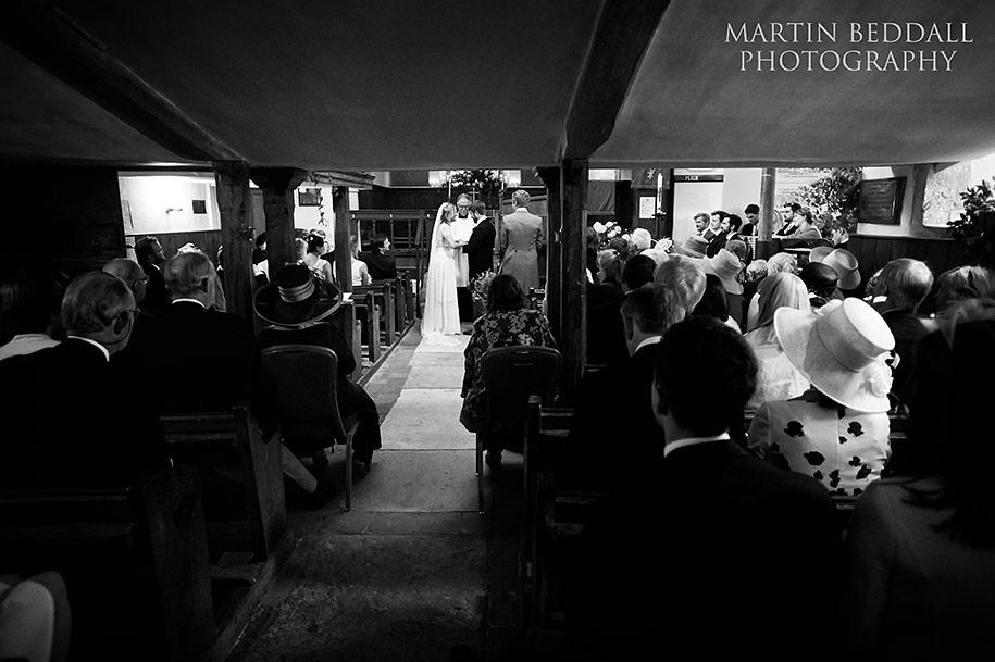Minstead church wedding ceremony