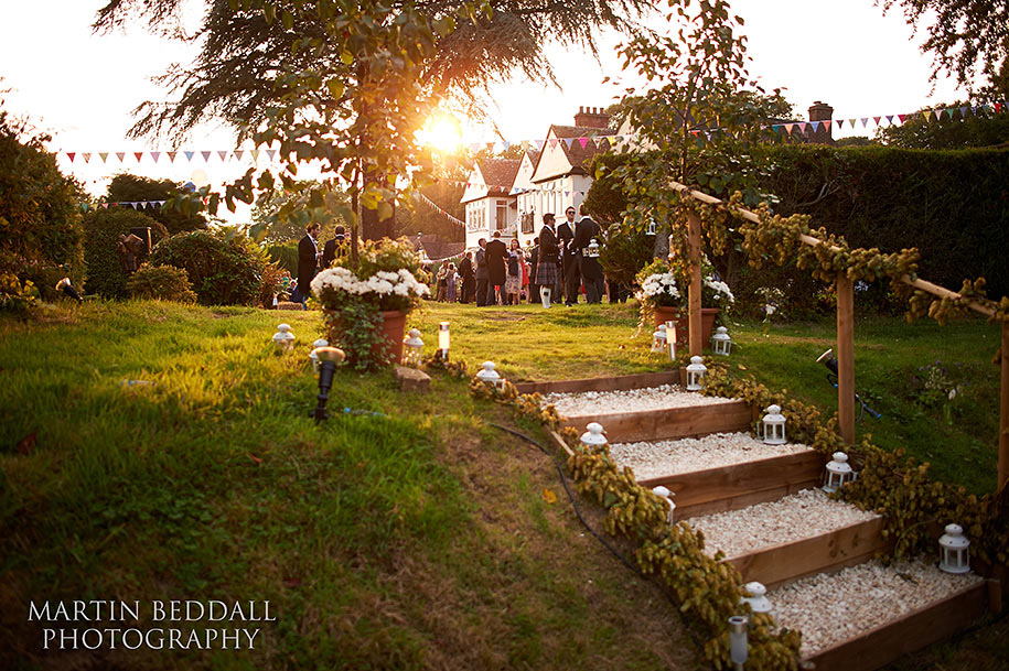 Late summer evening New Forest wedding reception