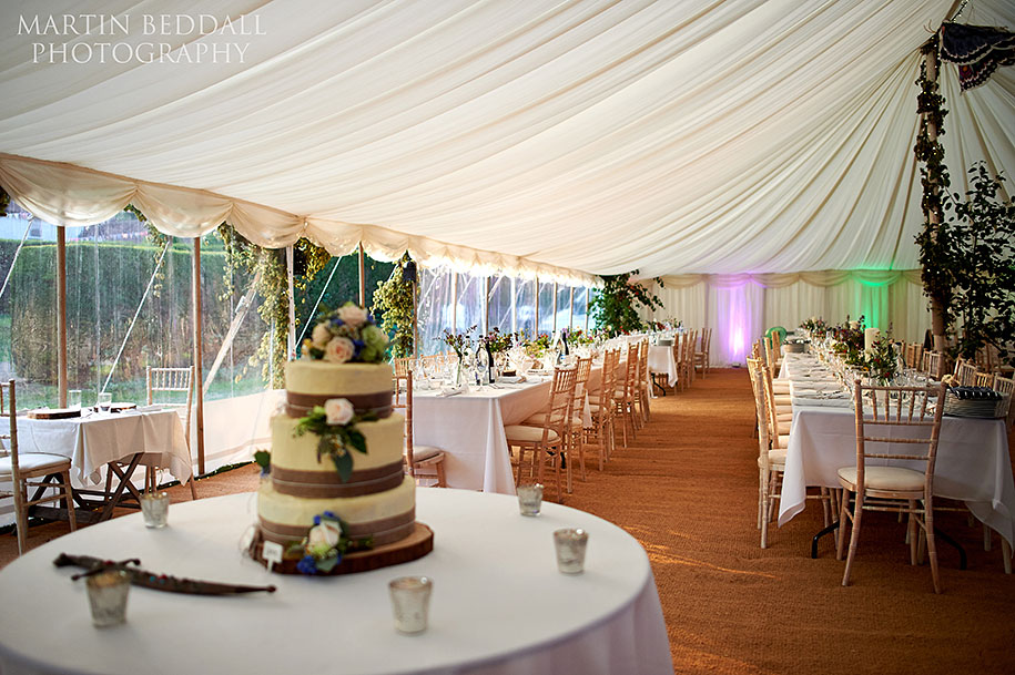 Wedding marquee in the New Forest