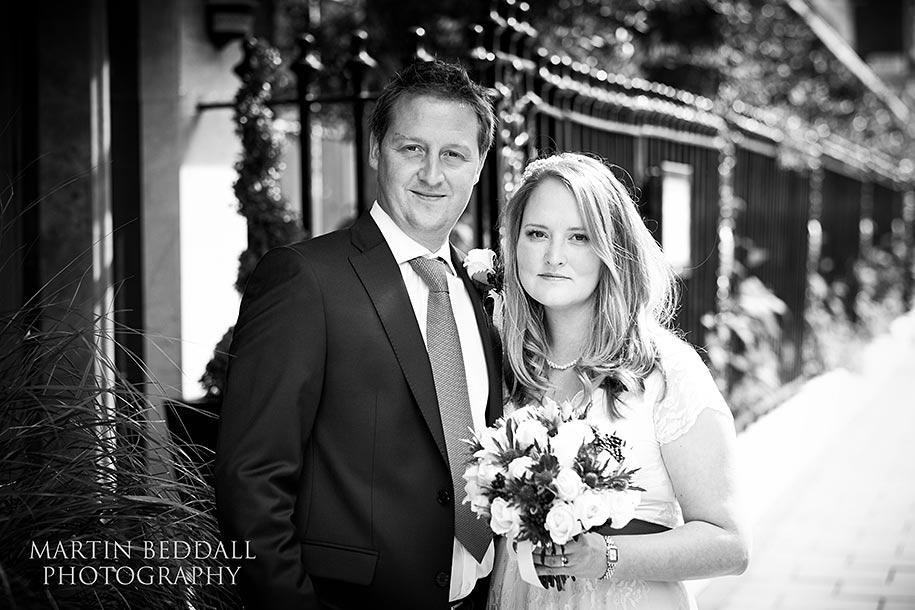 Bride and Groom at Calridge's