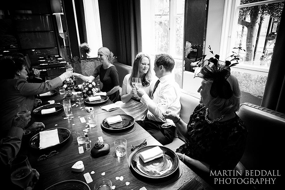 Wedding meal at Claridge's