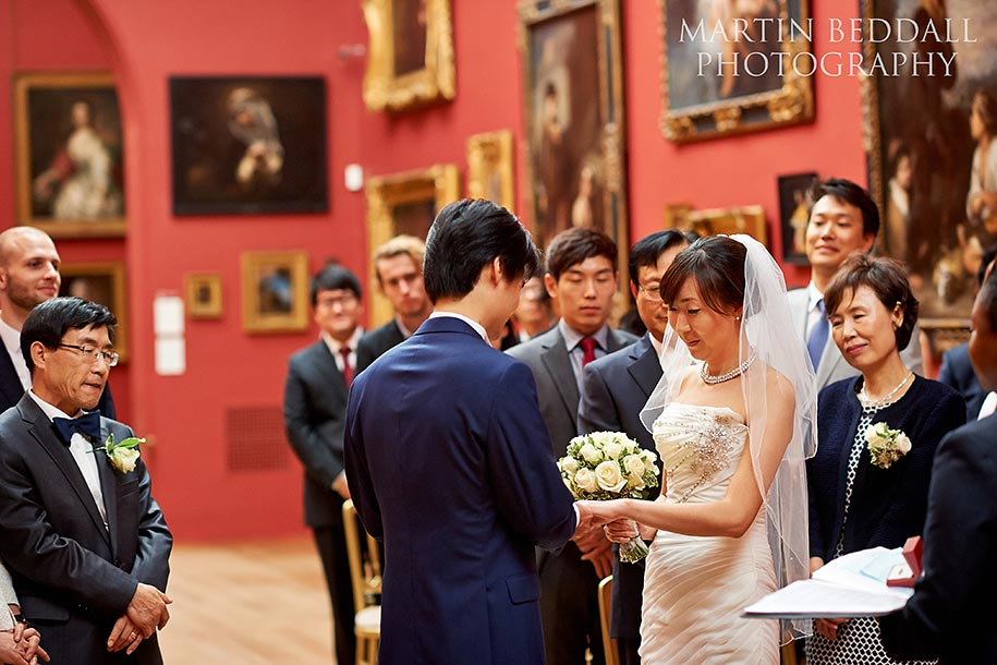 Dulwich Picture Gallery wedding ceremony