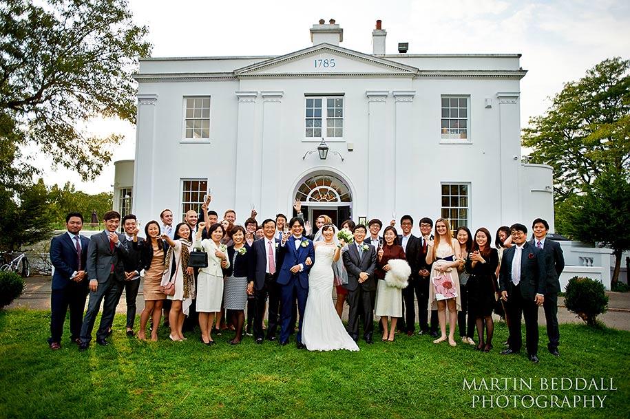 Wedding groups shot at Belair House