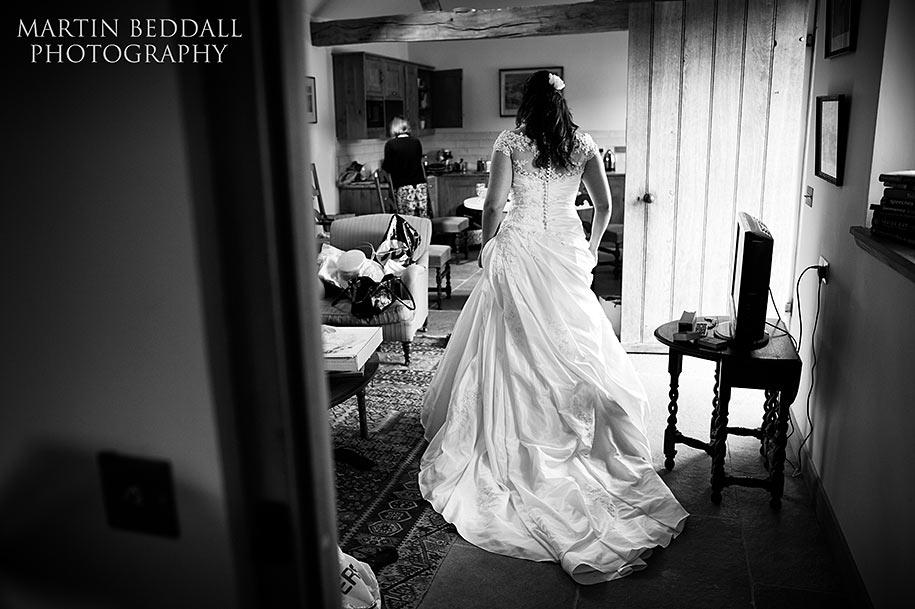 Bride getting ready at High Hampstead B&B