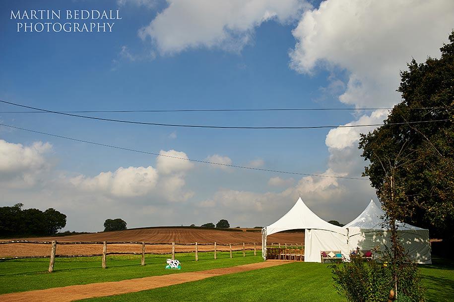 Bartholomew Barn wedding outdoors
