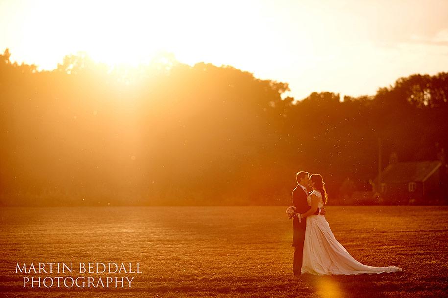 Bartholomew Barn wedding photography sunset portrait