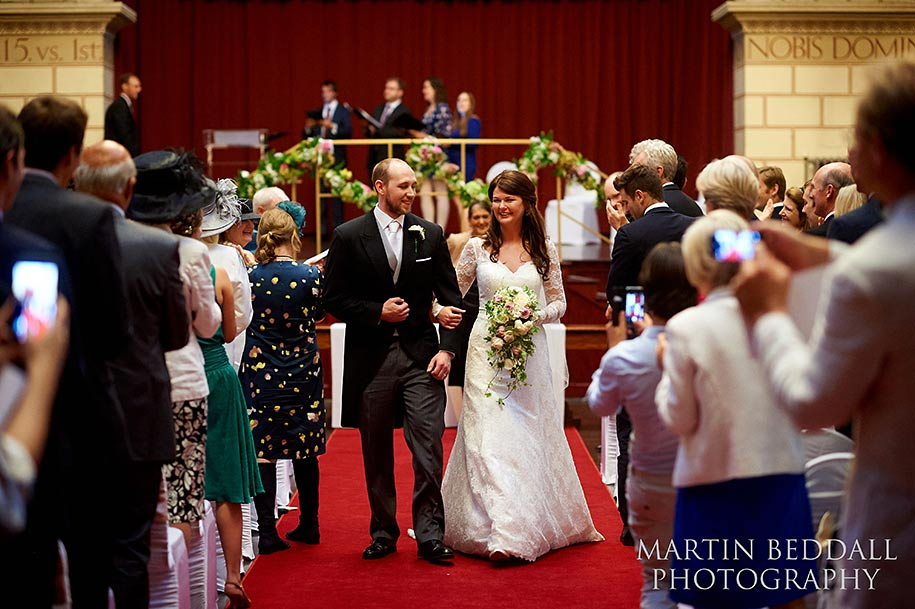 Northampton Guildhall wedding ceremony in the Great Hall