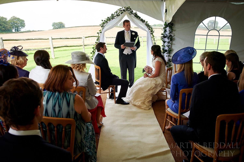 Bartholomew Barn wedding ceremony